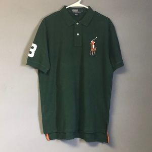 NWT Men's Big Pony Green Polo Shirt Size Large